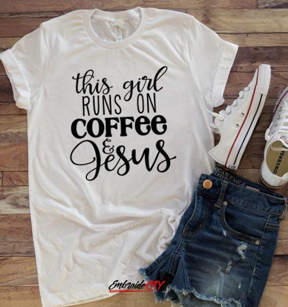 Grandma Tshirt T , This Girl Runs On Jesus and Horses T Shirt Women Gifts, 10