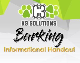 C3 K9 Solutions for Barking (Informational Handout)