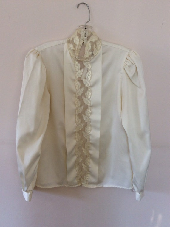 L. Rothschild Satin blouse