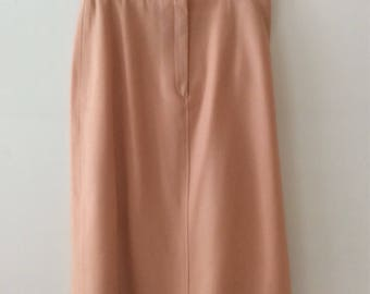100% Wool Pale Peach pencil skirt - New Expressions by Bobbie Brooks