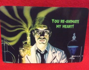 Horror Valentine Card Valentine S Day Love Lovers Etsy