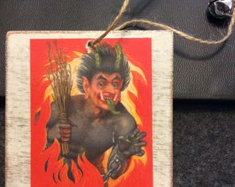 Vintage inspired Krampus Ornament #7 - Christmas - winter - decoration - holiday - Austria - St. Nick - stocking stuffer - German
