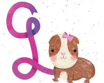 Guinea Pig - Square print