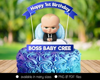Centerpiece Boss Baby Boy Cake Topper Personalized Party