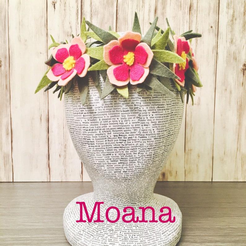 2a869dd827 Moana Haku Lei l Hawaiian Flower Crown l Toddler Moana Costume
