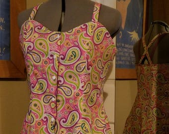 2 Sun Dresses in 1! Reversible size 12