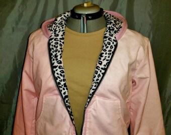 Pink Corduroy and Fleece Jacket size S