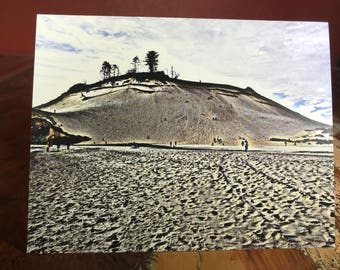 Bright Sand Dune Note Card - Pacific City, Oregon