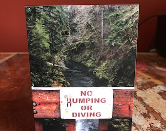 No Humping or Diving Funny Note Card