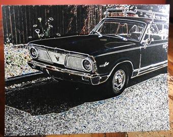 Neon Car Note Card