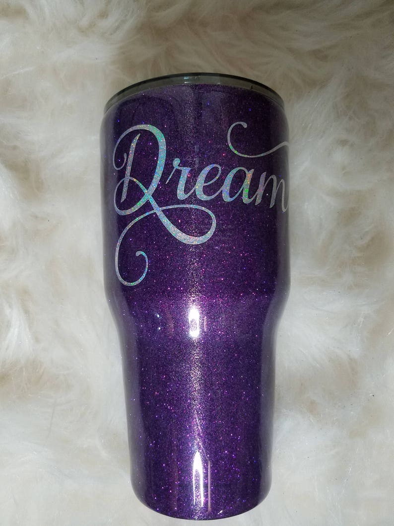 f412e90b7a3 Purple Yeti Glitter Tumbler/Yeti Cup Glitter Dip Tumbler/Purple  Personalized Rambler/30 oz Glitter Tumbler/Tumbler 20 oz Yeti/Monogram Cup