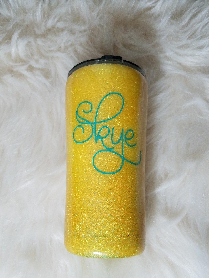 558523b467a Yeti Yellow Glitter Tumbler/Yeti dip Glitter Cup/Glittered Yeti Tumbler/Dip  Yeti Cup Monogram/Personalized Yeti Yellow Tumbler/30 oz Tumbler