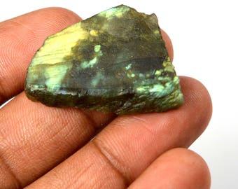 42.95 Ct. Natural Uncut Untreated Rainbow Shinny Labradorite Gemstone Rough  Best Deal