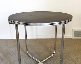 RARE Mid Century Gilbert Rohde Troy Sunshade Streamline Occasional Table  Art Deco