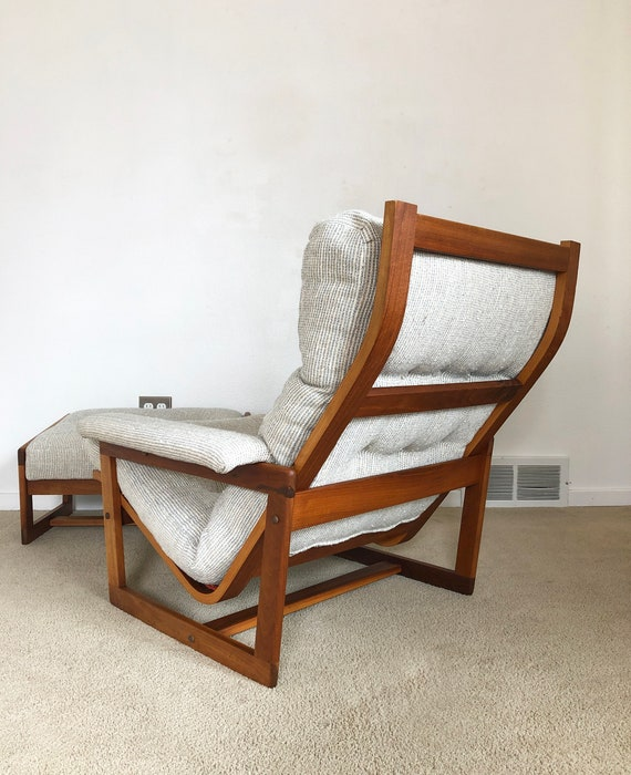 Astonishing Vintage Danish Modern Teak Lounge Chair And Ottoman Pabps2019 Chair Design Images Pabps2019Com