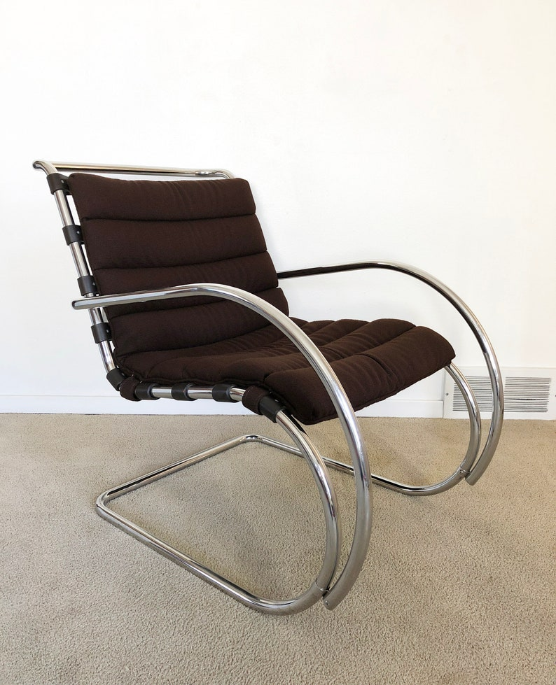 Ludwig Mies Van Der Rohe Mr Lounge Chair Knoll Mid Century Etsy