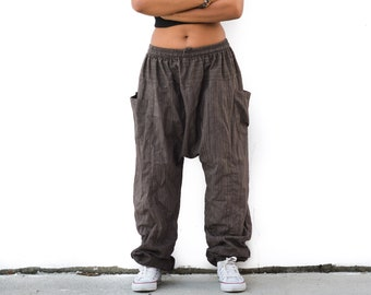 Drop Crotch Harem Pants, Boho Pants, Yoga Pants, Festival Pants, Gypsy Pants, Bohemian Pants, Baggy Pants, men, women