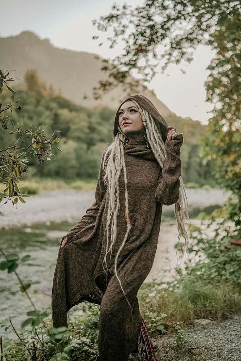 Women/'s Hoodie Coat Sweater Hooded Jacket Bohemian Coat Long Alternative