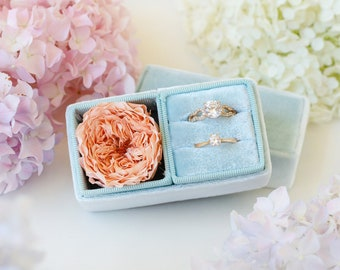 Velvet ring box - Proposal ring box - Vintage ring box - Wedding gift - Tiffany
