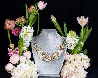 Velvet Necklace Bust - Necklace Holder - Necklace Display - Jewellry display - Necklace Display Stand - Jewellery equipment - Gray