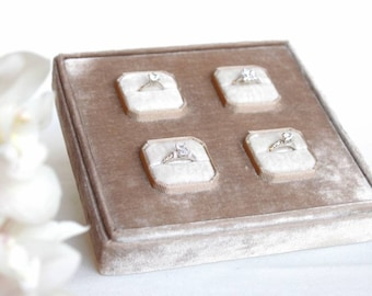 Jewelry display - Jewelry boxes - Ring display - Ring case - Velvet