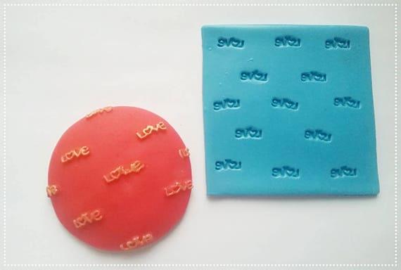 Love Impression Mat 8cm Cake Decorating Resin Wax Etsy