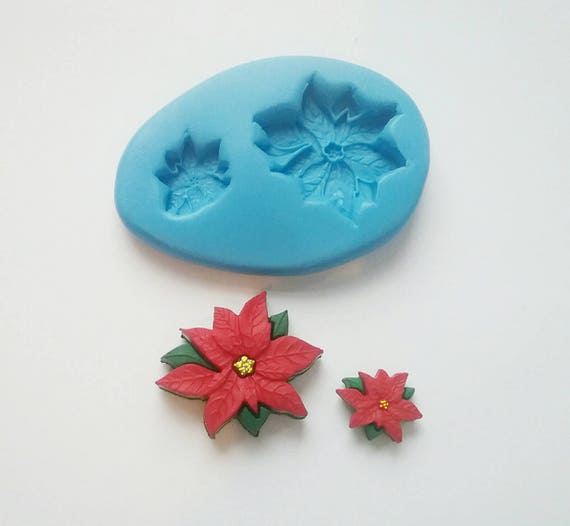 Poinsettias Mould 25mm And 11mm Cake Decorating Wax Etsy