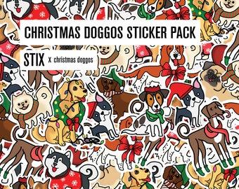 Christmas Doggo Sticker Pack!