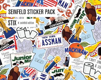 Serenity Now! Seinfeld Sticker Pack - Unique Stickers About Nothing