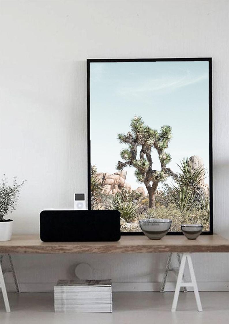 Desert Landscape Photography Desert Wall Art Southwestern Decor California Desert Boho Print Cactus Desert Print Joshua Tree Print