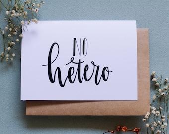No Hetero - Queer Greeting Card