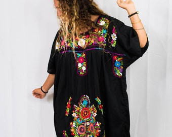 74dd4c972ec 1970s EMBROIDERED PEASANT DRESS