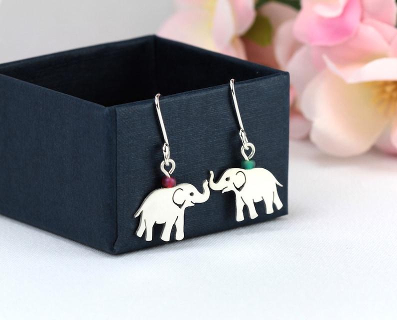 63373ac30fa2e Baby Elephant Earrings, Silver Elephants, Elephant Lovers Gift, Elephant  Dangle Earrings, Adorable Elephants, Silver Elephant Jewellery