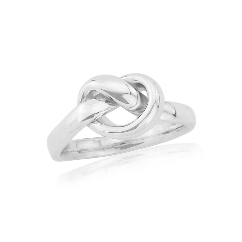 love knot ring tight knot ring Sterling silver Knot ring promise ring