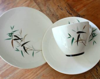 Royal Doulton Bamboo Teacup, Saucer and Tea Plate