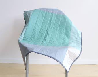 Minimalist Modern Baby Quilt - Baby Blanket