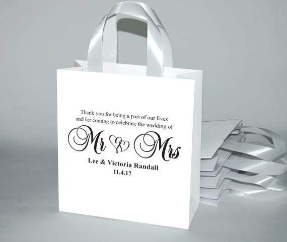 5deb195f305e 20 Thank you Wedding Welcome Bags with satin ribbon handles