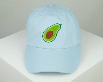 ad92e77a67e Avocado Embroidered Baseball Cap - Sky Blue    Embroidered in the UK