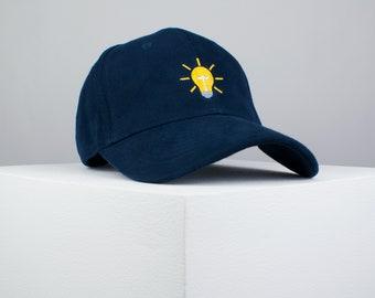 Lampadina ricamato navy cap baseball   luce   toppe   femminista   ricamo    patch   cappello   cappello papà   cap   ferro su patch d92d3fede526