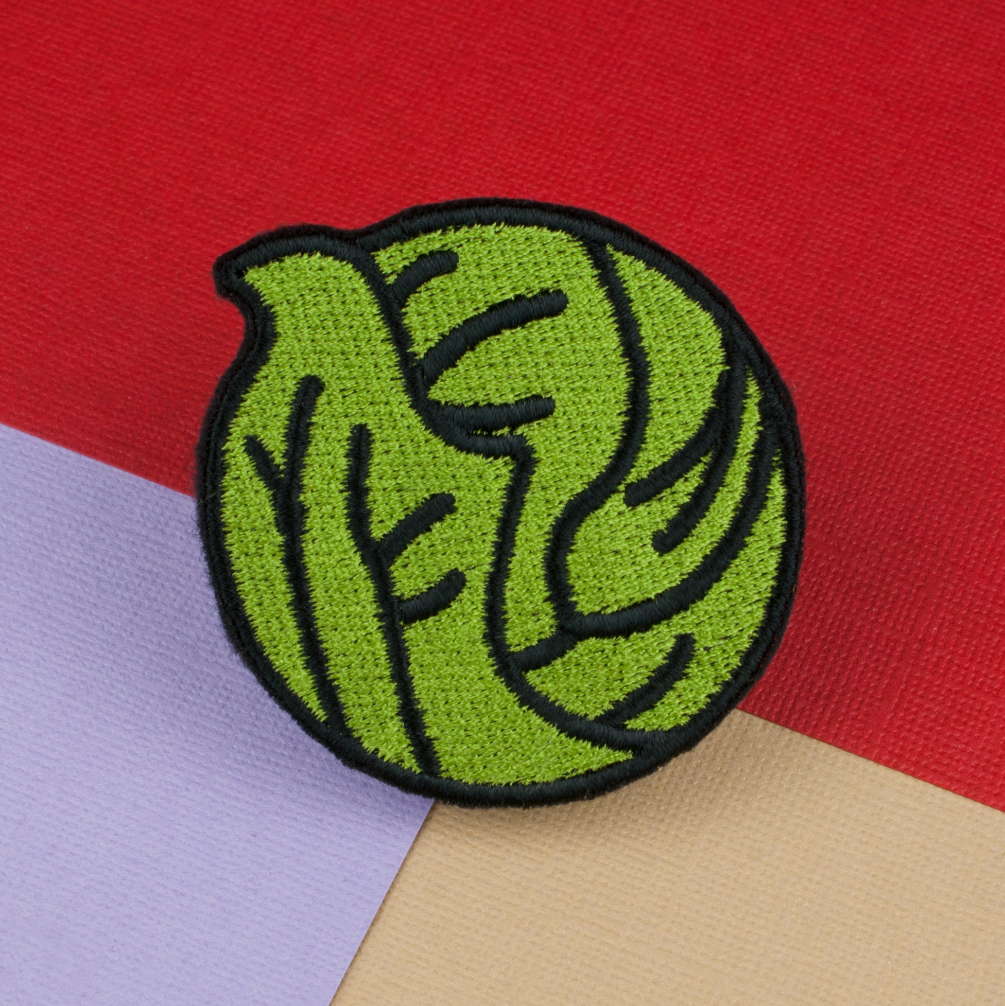 iron-on embroidered sprout 2 patch