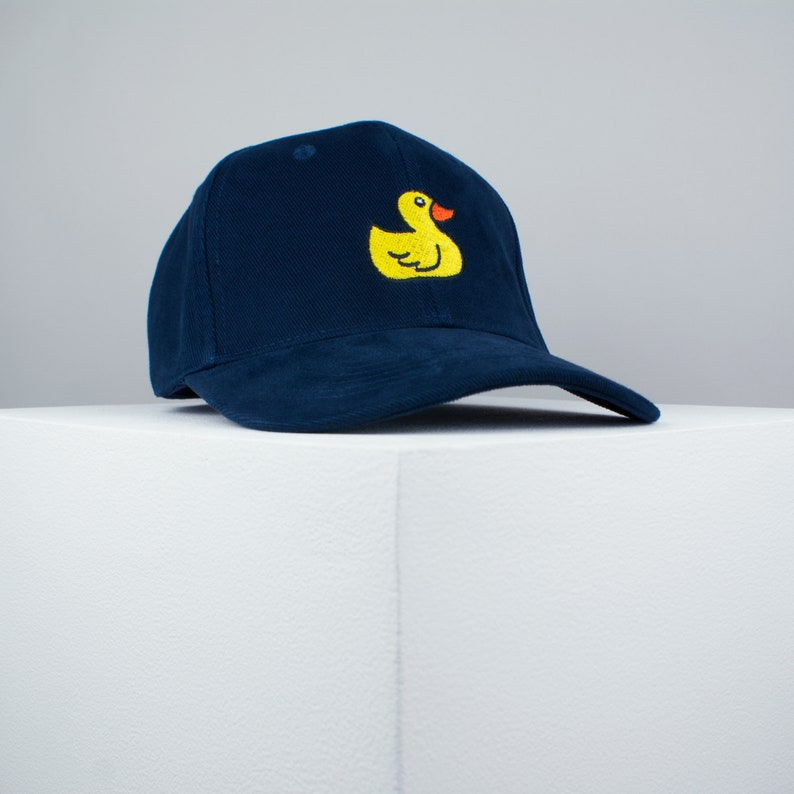 5945c192962 Rubber duck embroidered baseball cap navy   animal   patches