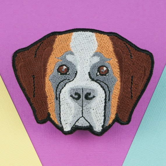 Saint Bernard Custom Iron-on Patch With Name Personalized Free