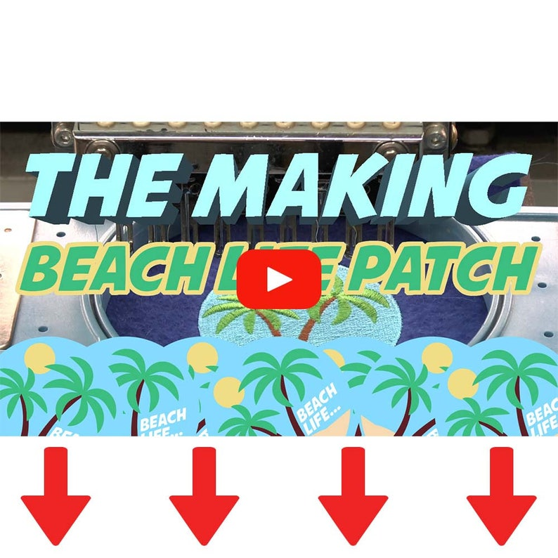 Beach life iron on patch  beach  patches  ocean  embroidery  patch  enamel pin  pin  embroidered patch  back patch  badge