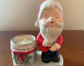 Lurkin Christmas Figurine by Jasco 1980 Santa Candle Holder Plant Holder