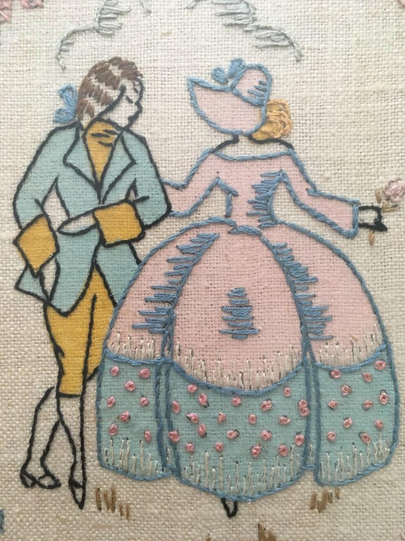 Vintage Bride and Groom Needlework