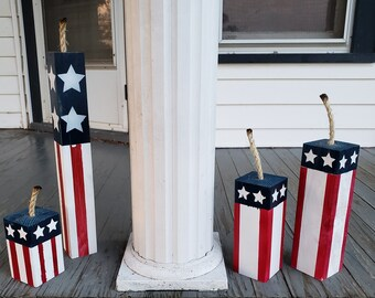 Patriotic 4th of July porch decor is some of my favorite home decor to shop for! Etsy is an especially great spot to find unique decor finds--and that includes patriotic porch decor. These firecrackers will look amazing on your porch!