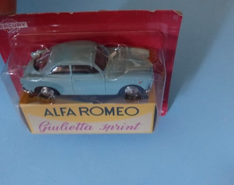Alfa Romeo Giulietta Sprint light blue Mercury copy by Hachette for Italian market 1:48 brand new in box