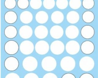 decals for racing numbers roundels (white and white-black cercled) 1:24 scale Interdecal RO2