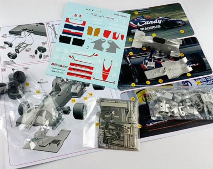 Toleman Hart TG183B Formula 1 Dutch GP 1983 Giacomelli or Warwick TAMEO Kits SLK112 1:43