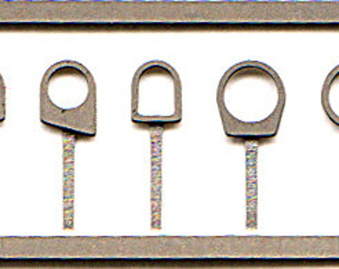 photo etched 1:43 towing hooks (3 sets with 7 different shapes) Tameo FT17